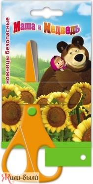 Маша и Медведь. Ножницы безопасные (зиг-заг) 135 мм. арт.14685/22301 /240
