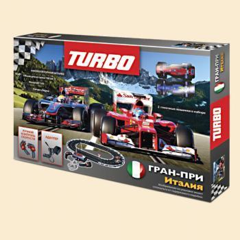 Turbo. Трек+2 машинки (длина трека 198 см.,зарядка от сети) арт.18050