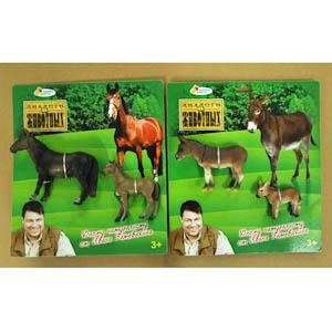 "Диалоги о животных. Набор ""Лошади/Ослики"" из 2-х фигурок на картоне арт.W2939L"