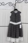 Нарядное платье из шифона с люрексом.