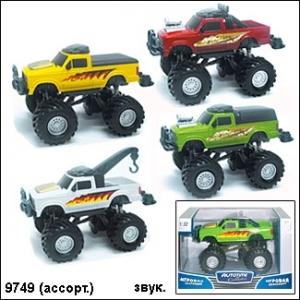 "Autotime.  Машина арт.70152 ""Monster truck"" звук 1:32"