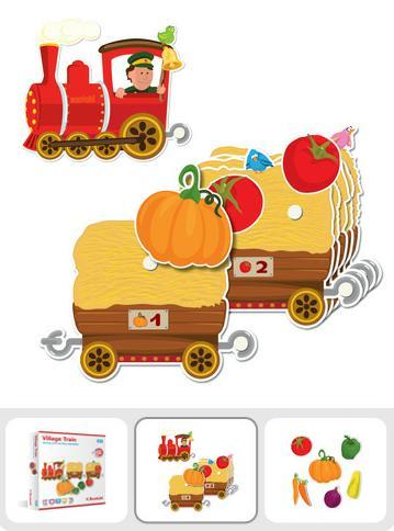 "Scotchi.20021 Игра ""Путешествие овощей на поезде"""
