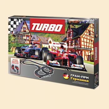 Turbo. Трек+2 машинки (длина трека 437 см.,на батарейках) арт.18049