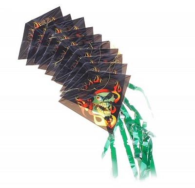 """Воздушный змей арт.325438 """"Злодей"""" 10 пластинок на нитке+леска"""