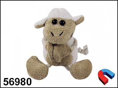 """Сувенир """"Глазастая овечка"""" арт.56980 (мягконабив. на магните)"""