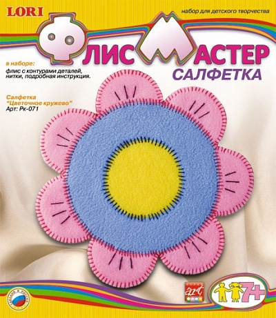 """Рк-071 Салфетка из флиса """"Цветочное кружево"""" /7*"""