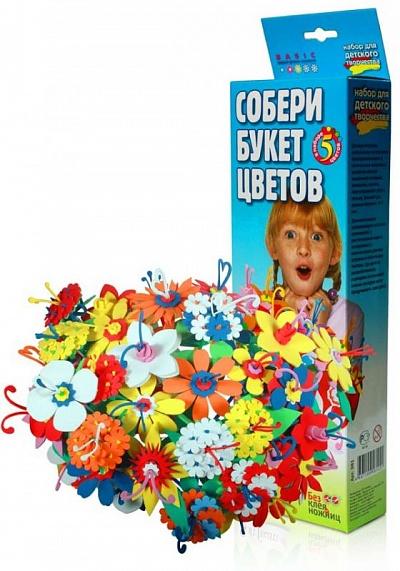 385 Букет цветов мал. в коробке (Бомик) /