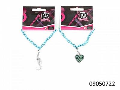 """Monster High.09050724 Браслет на цепочке """"LAGOONA BLUE"""" с подвеской20897"""