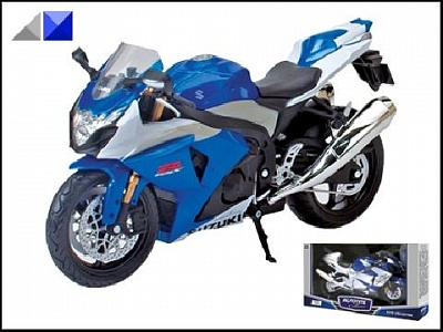 "Autotime.  Мотоцикл 1:12 арт.34228 ""SUZUKI GSX-R1000"""