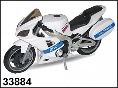 "Autotime.  Мотоцикл арт.31472-06/33884 ""EMERGENCY BIKE"" милиция 1:12"