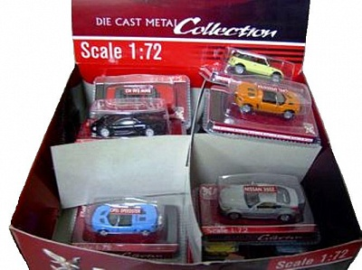 Yat Ming.72000 1:72 Коллекционные легковые автомобили в блистере в асс-те