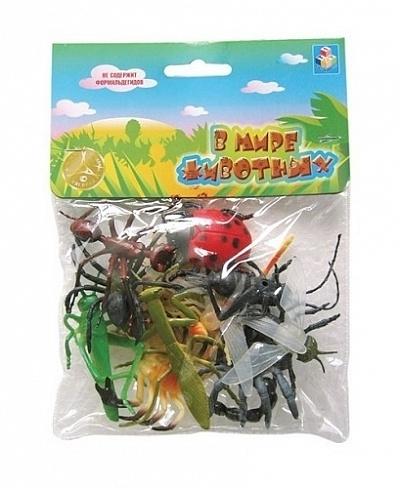 В мире животных.50523 Набор насекомых 12 шт.  в пакете