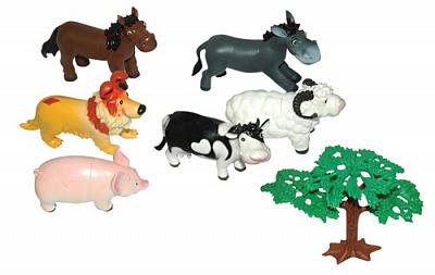 """В мире животных.51821 Мультяшки """"Животные  с фермы"""" 18 см. 3 пред."""