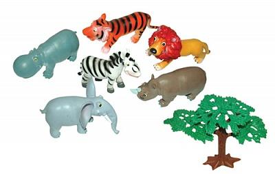 """В мире животных.51822 Мультяшки """"Дикие животные"""" 18 см. 3 пред."""