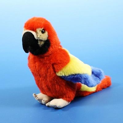 """Диалоги о животных. """"Попугай"""" красный в пак. 17,5 см арт.BD-07SR006"""
