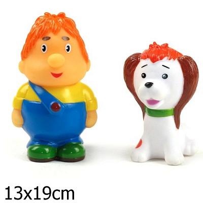 """Играем вместе. Набор для купания арт.137R-PVC """"Карлсон и щенок"""" в пакете"""