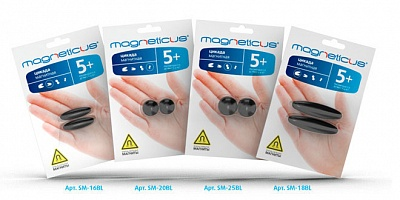 "Magneticus.Цикада магнит. ""Овалы"" 18 мм арт.SМ-18BL /24"