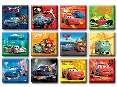 "Магниты MARRCR-061-72/1111732 ""Cars 2"" 3D в пакете 8*8,5 см."