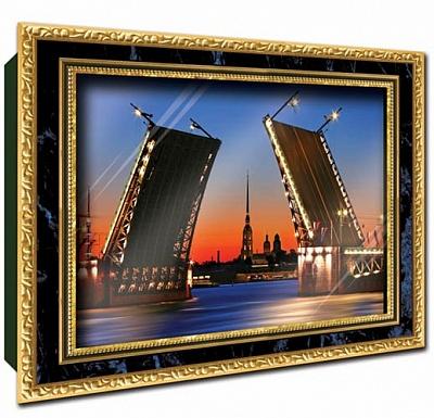 """Vizzle. 0153 Объемный постер """"Дворцовый мост"""""""