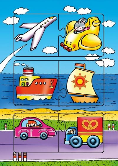 """Развивающая рамка """"Едем,плывем,летим"""" 6 дет. арт.1191 /70"""