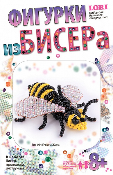"Бис-054 Фигурки из бисера ""Пчелка Жужа"" /28"