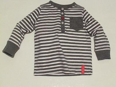 Рубашка - поло в серо-белую полоску KappAhl