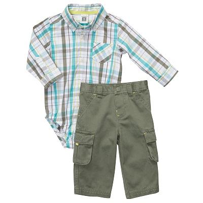 Комплект рубашка-боди и брюки