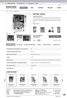 Прототипы страниц для сайта компании Туарас-Феникс