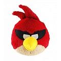 """Angry Birds КАВ016 Мягкая игрушка """"Красная птица в очках"""" 20 см."""