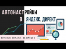Автонастройки в Яндекс Директ. Последние обновления автонастроек в Яндекс Директе. Михаил Миронов