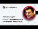 Как выглядит структура рекламного кабинета в ВКонтакте