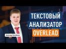 Текстовый анализатор сайта Overlead: обзор, интерфейс, как использовать. Александр Ожгибесов
