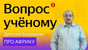 Вопрос учёному: Дмитрий Бондаренко — про Африку