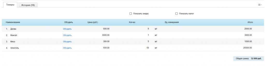 Модуль для корпоративного портала Битрикс - Общение в рамках CRM счёта