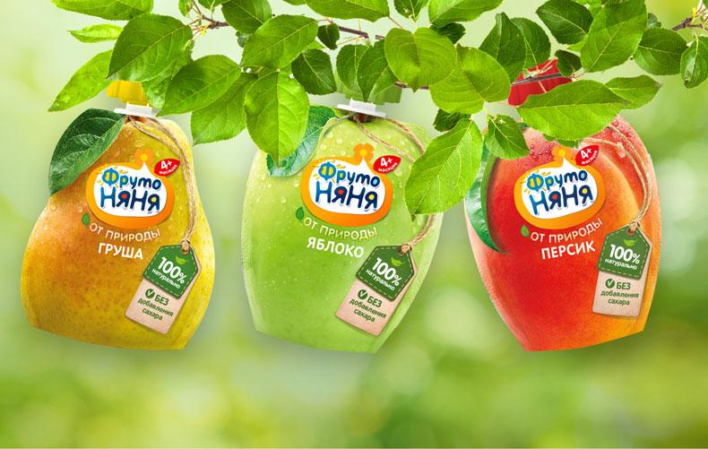 Любимые пюре в новой «фруктовой» упаковке!