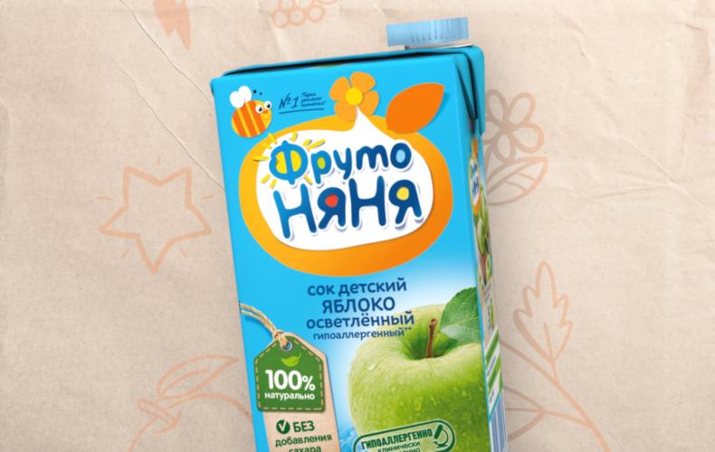 Яблочный сок «ФрутоНяня» был признан Роскачеством одним из лучших