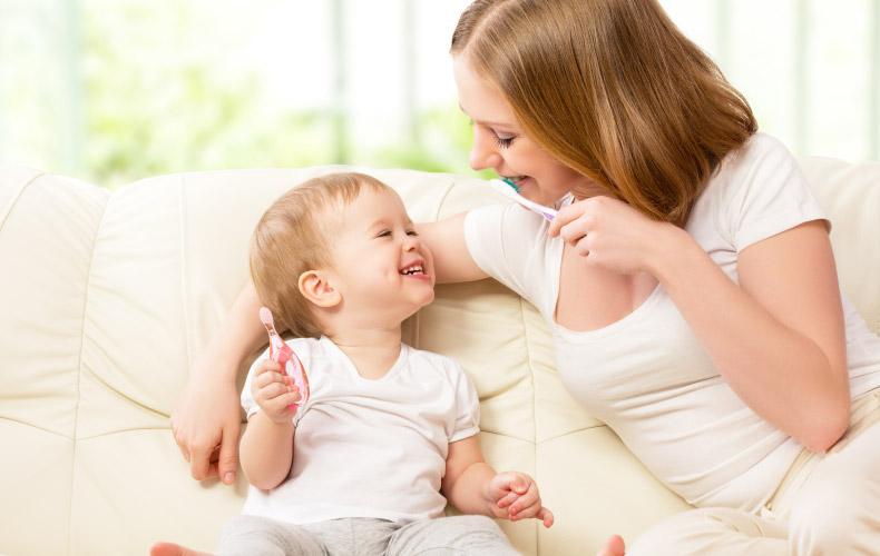 Забота о зубках малыша