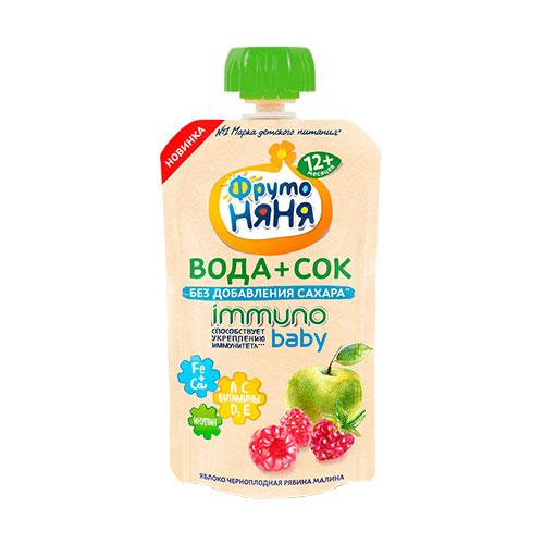 Вода+Сок Immuno Baby Яблоко-малина