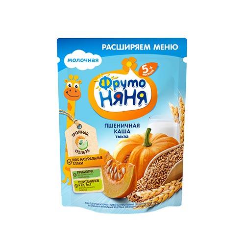 Каша молочная пшеничная с тыквой