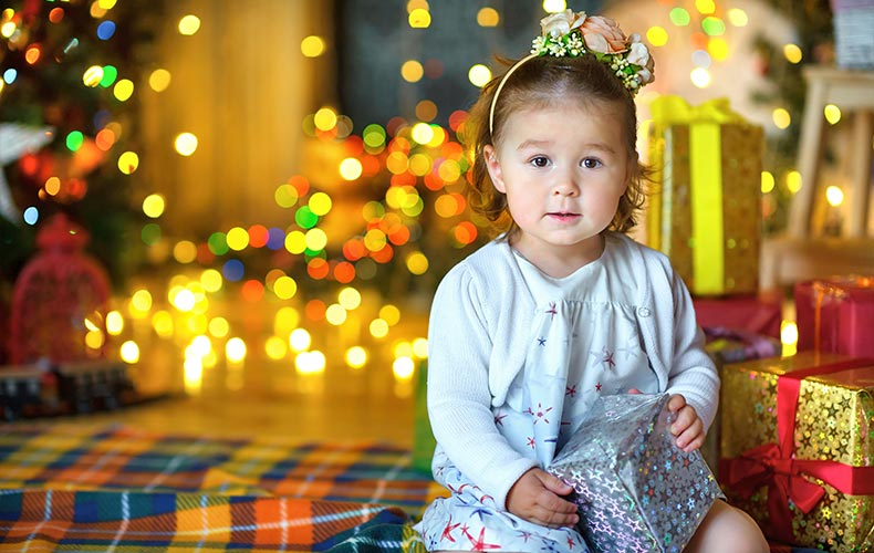 Новогодние подарки с малышом
