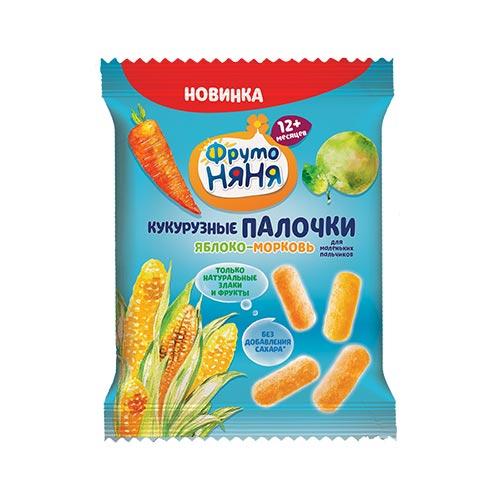 Палочки кукурузные с яблоком и морковью