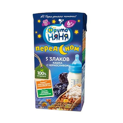 Кашка молочно-злаковая с черносливом