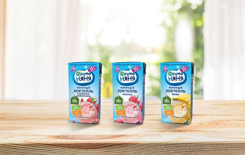 Молочные коктейли «ФрутоНяня»