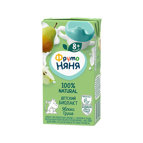 Биопродукт кисломолочный «Биолакт» яблоко-груша
