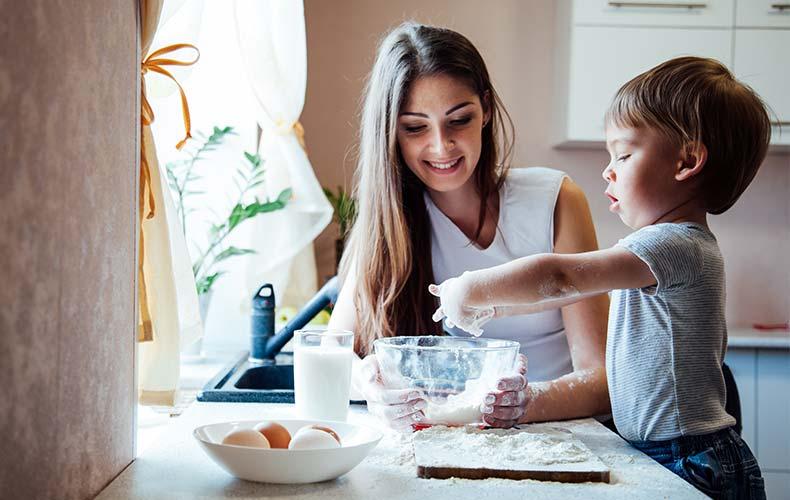 Готовим завтрак вместе с ребёнком