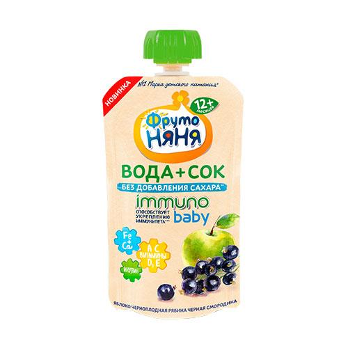 Вода+Сок Immuno Baby Яблоко-черная смородина
