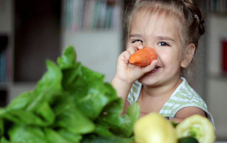 Овощи в рационе ребёнка