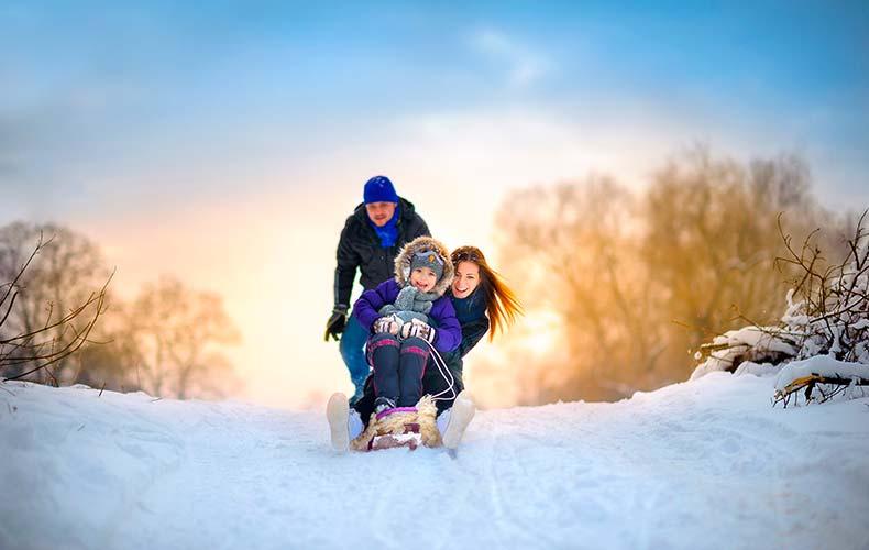 Снежные игры для всей семьи