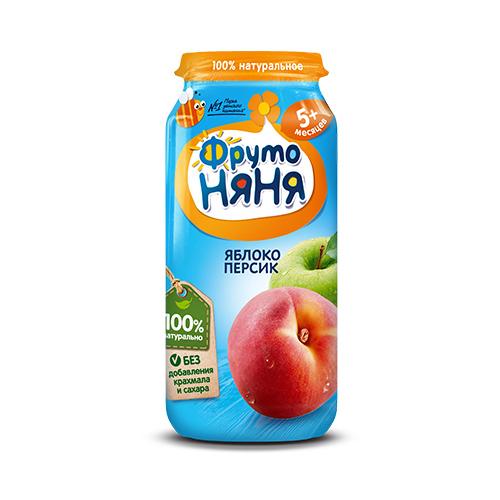 Пюре из яблок и персиков